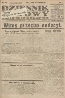 Dziennik Ludowy : organ Polskiej Partyi Socyalistycznej. 1922, nr263