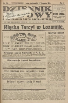 Dziennik Ludowy : organ Polskiej Partyi Socyalistycznej. 1922, nr266