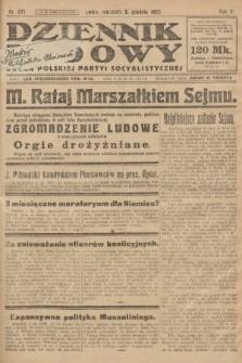 Dziennik Ludowy : organ Polskiej Partyi Socyalistycznej. 1922, nr271