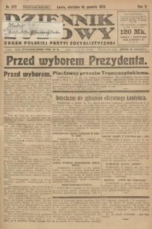 Dziennik Ludowy : organ Polskiej Partyi Socyalistycznej. 1922, nr277