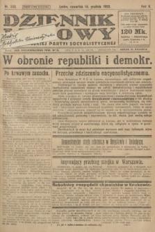 Dziennik Ludowy : organ Polskiej Partyi Socyalistycznej. 1922, nr280