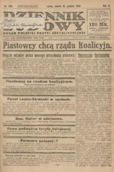Dziennik Ludowy : organ Polskiej Partyi Socyalistycznej. 1922, nr282