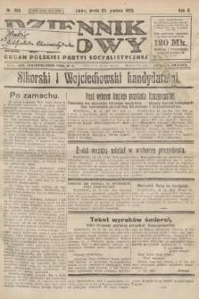 Dziennik Ludowy : organ Polskiej Partyi Socyalistycznej. 1922, nr286
