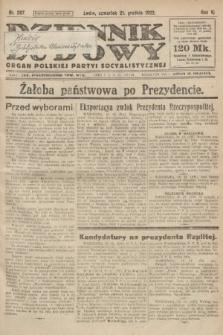 Dziennik Ludowy : organ Polskiej Partyi Socyalistycznej. 1922, nr287