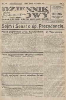 Dziennik Ludowy : organ Polskiej Partyi Socyalistycznej. 1922, nr289