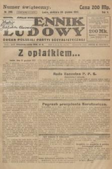 Dziennik Ludowy : organ Polskiej Partyi Socyalistycznej. 1922, nr290