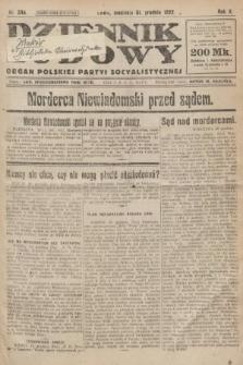 Dziennik Ludowy : organ Polskiej Partyi Socyalistycznej. 1922, nr294