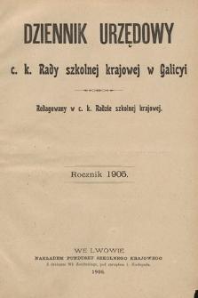 Dziennik Urzędowy c. k. Rady szkolnej krajowej w Galicyi. 1905 [całość]
