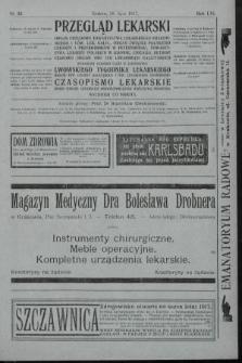 Przegląd Lekarski oraz Czasopismo Lekarskie. 1917, nr30