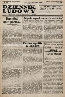 Dziennik Ludowy : organ Polskiej Partij Socjalistycznej. 1932, nr73