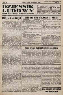 Dziennik Ludowy : organ Polskiej Partij Socjalistycznej. 1932, nr76