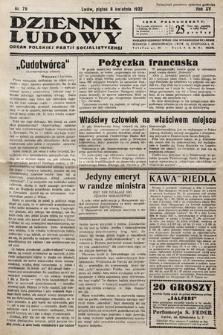 Dziennik Ludowy : organ Polskiej Partij Socjalistycznej. 1932, nr79