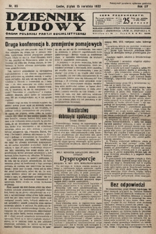 Dziennik Ludowy : organ Polskiej Partij Socjalistycznej. 1932, nr85