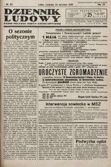 Dziennik Ludowy : organ Polskiej Partij Socjalistycznej. 1932, nr93