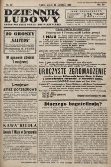 Dziennik Ludowy : organ Polskiej Partij Socjalistycznej. 1932, nr97