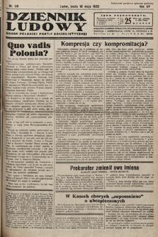 Dziennik Ludowy : organ Polskiej Partij Socjalistycznej. 1932, nr110