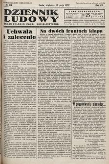 Dziennik Ludowy : organ Polskiej Partij Socjalistycznej. 1932, nr114