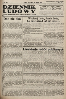 Dziennik Ludowy : organ Polskiej Partij Socjalistycznej. 1932, nr117