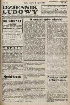 Dziennik Ludowy : organ Polskiej Partij Socjalistycznej. 1932, nr122
