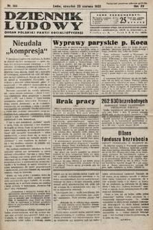 Dziennik Ludowy : organ Polskiej Partij Socjalistycznej. 1932, nr140