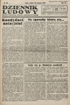 Dziennik Ludowy : organ Polskiej Partij Socjalistycznej. 1932, nr142
