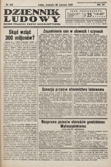 Dziennik Ludowy : organ Polskiej Partij Socjalistycznej. 1932, nr143