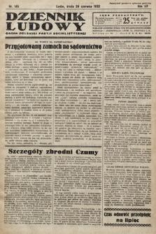 Dziennik Ludowy : organ Polskiej Partij Socjalistycznej. 1932, nr145