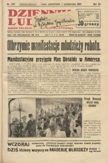 Dziennik Ludowy : organ Polskiej Partji Socjalistycznej. 1929, nr230