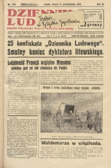 Dziennik Ludowy : organ Polskiej Partji Socjalistycznej. 1929, nr234