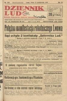 Dziennik Ludowy : organ Polskiej Partji Socjalistycznej. 1929, nr243