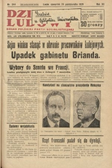 Dziennik Ludowy : organ Polskiej Partji Socjalistycznej. 1929, nr244
