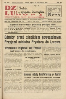 Dziennik Ludowy : organ Polskiej Partji Socjalistycznej. 1929, nr245
