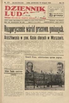 Dziennik Ludowy : organ Polskiej Partji Socjalistycznej. 1929, nr273