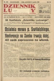 Dziennik Ludowy : organ Polskiej Partji Socjalistycznej. 1929, nr292