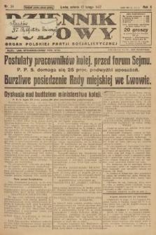Dziennik Ludowy : organ Polskiej Partji Socjalistycznej. 1927, nr34