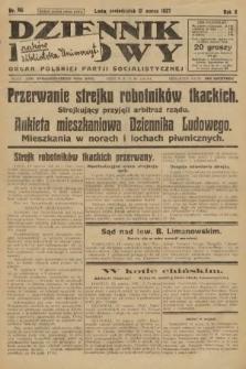Dziennik Ludowy : organ Polskiej Partji Socjalistycznej. 1927, nr66