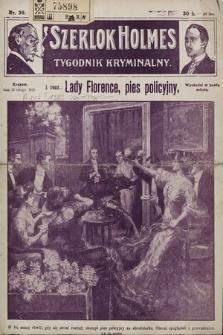 Szerlok Holmes : tygodnik kryminalny. 1910, nr39