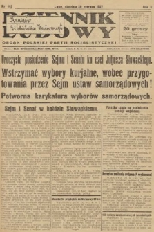 Dziennik Ludowy : organ Polskiej Partji Socjalistycznej. 1927, nr143
