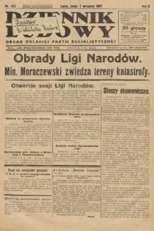 Dziennik Ludowy : organ Polskiej Partji Socjalistycznej. 1927, nr203