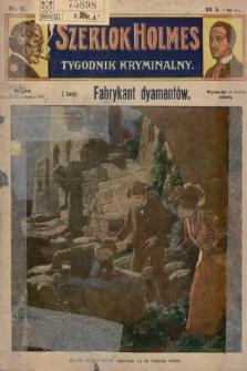 Szerlok Holmes : tygodnik kryminalny. 1909, nr21
