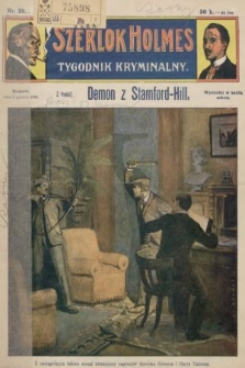 Szerlok Holmes : tygodnik kryminalny. 1909, nr28