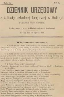 Dziennik Urzędowy C. K. Rady Szkolnej Krajowej w Galicyi w Zakresie Szkół Ludowych. 1898, nr3