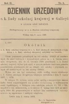 Dziennik Urzędowy C. K. Rady Szkolnej Krajowej w Galicyi w Zakresie Szkół Ludowych. 1898, nr8