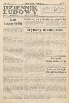 Dziennik Ludowy : organ Polskiej Partij Socjalistycznej. 1932, nr173