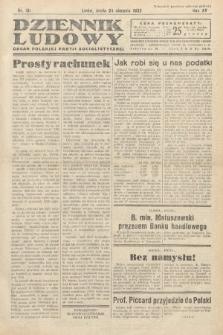 Dziennik Ludowy : organ Polskiej Partij Socjalistycznej. 1932, nr191