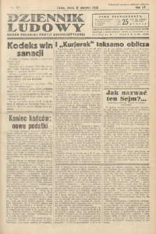 Dziennik Ludowy : organ Polskiej Partij Socjalistycznej. 1932, nr197