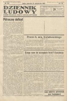 Dziennik Ludowy : organ Polskiej Partij Socjalistycznej. 1932, nr246