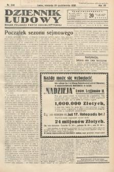 Dziennik Ludowy : organ Polskiej Partij Socjalistycznej. 1932, nr249