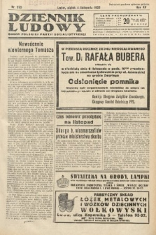 Dziennik Ludowy : organ Polskiej Partij Socjalistycznej. 1932, nr252