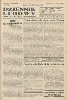 Dziennik Ludowy : organ Polskiej Partij Socjalistycznej. 1932, nr273